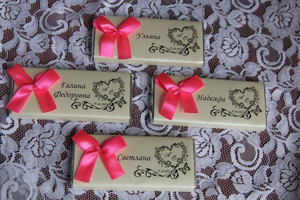 Шоколад подарки гостям 49